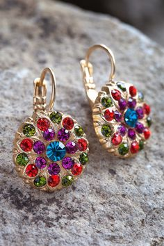 Mariana Earrings in Tiger Lily E-1029-1311YG