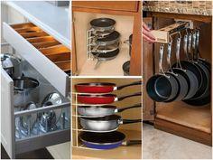 Правильная организация пространства в кухонном шкафу
