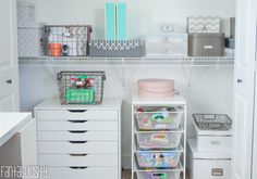 Organize your closet! She tells you exactly where to get the items she used! Home Tour Part 10 The Office and Craft Room