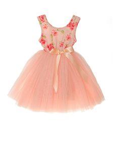 Look what I found on #zulily! Designer Kidz Pink Floral Tutu Dress - Infant, Toddler & Girls by Designer Kidz #zulilyfinds