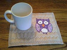 Purple Owl Mug Rug