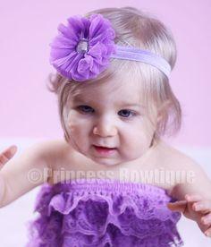 Lavender Tull Little Girl Headband