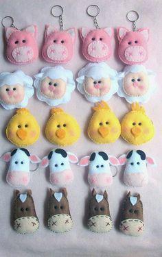Lembrancinhas para todos os eventos em feltro e biscuit: Lembrança Fazendinha em feltro