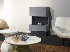 Biokominek NUORO Betonlook  750x1190 mm Teak, Fire, Table, Inspiration, Furniture, Home Decor, Houses, Biblical Inspiration, Interior Design