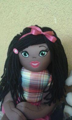 Fiz apenas o cabelo da boneca