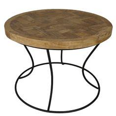 beistelltisch couchtisch drum rund teak metall auswahl 1 x beistelltisch couchtisch drum rund. Black Bedroom Furniture Sets. Home Design Ideas