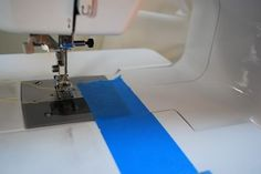 Painter's tape. This is a trick for sewing straight.