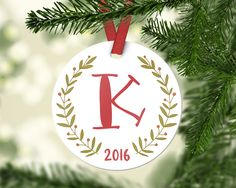 Personalized Christmas Ornaments Employee Gift Employee Christmas Gifts Monogram Christmas Ornaments Christmas Gifts for Her Christmas Decor by fieldtrip on Etsy https://www.etsy.com/listing/493588425/personalized-christmas-ornaments