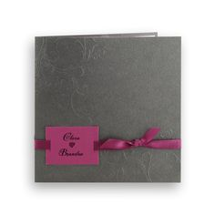 faire part mariage cratif pochette arabesques relief gristout fuchsia j0234 - Faire Part Mariage Gris Et Fushia