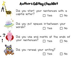 Love this! Great with Writer's Workshop!
