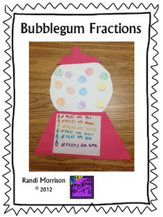 Bubblegum Fractions from Family of First Graders on TeachersNotebook.com -  (5 pages)