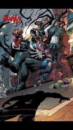 Venom, Mary Jane, and Annie - Adam Kubert