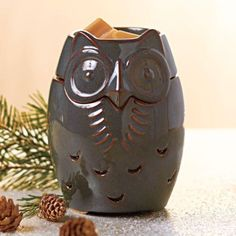 Partylite Sage Owl Scentglow Warmer Brand New for Halloween Fall 2013 | eBay $30