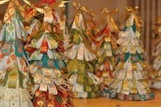 paperstrip trees Christmas Craft Tea