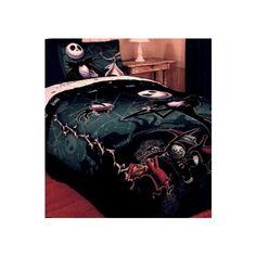 Amazon.com - Nightmare Before Christmas Full / Queen Comforter with Jack Skellington Lock Shock and Barrel