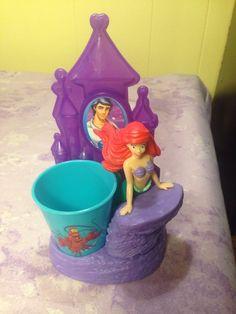 Disney Princess Royal 👑 Smile Set Toothbrush Holder Rinse Cup Mermaid ARIEL #DisneyPrincess
