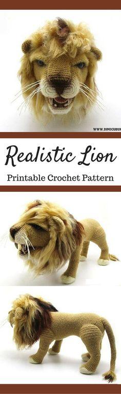Lion crochet pattern #amigurumi #amigurumidoll #amigurumipattern #crochet #ilovecrochet #handmade #diy #knitting #ad