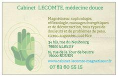 Carte De Visite Cabinet Lecomte Rouen Massage Portrait