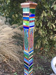 Mosaic Art Pole | The Glass Workbench