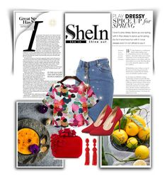 """""""SHEIN"""" by zina1002 ❤ liked on Polyvore featuring Jimmy Choo and Oscar de la Renta"""