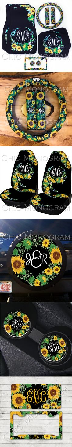 Brighten up your car interior with our beautiful sunny sunflower car accessories - Cars Accessories - Ideas of Cars Accessories - Brighten up your car interior with our beautiful sunny sunflower car accessories! car accessories Advance Auto Parts Jeep Jk, Preppy Car Accessories, Diy Accessories, Go Car, Car Purchase, Cute Cars, Car Shop, Car Wallpapers, Beautiful