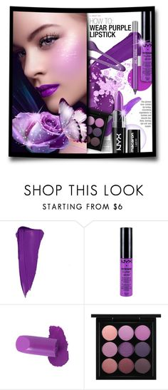 """""""#795 - Beauty Trend: Purple Lipstick"""" by lilmissmegan ❤ liked on Polyvore featuring beauty, NARS Cosmetics, Charlotte Russe, NYX, MAC Cosmetics, Urban Decay, BeautyTrend, Beauty and purplelipstick"""