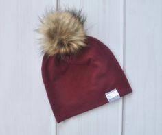 Slouchy Beanie - Wine – The Young Nest