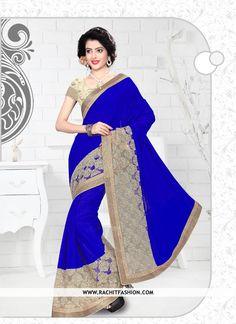 Feel special on this #rakshabandhan wearing this extraordinary lavish blue saree.   #rakhi