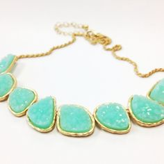 Aqua Druzy Necklace. In love with this