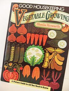 Vintage book  Good Housekeeping Vegetable by peonyandthistle
