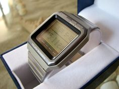 NEW NOS Vintage CASIO VDB-1000 LCD Touch Screen Data Bank wrist computer watch #Casio #Casual