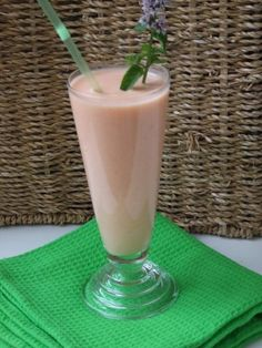 Smoothie de melón cantalupo apto para diabéticos