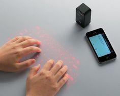 Wireless Projection Keyboard.