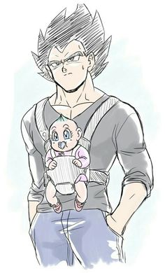 vegeta and bulla. Dragon Ball Z, Goku Y Vegeta, Baby Vegeta, Son Goku, Otaku, Cute Anime Couples, Anime Love, Kawaii Anime, Character Art
