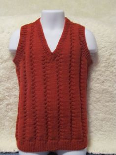 Handsome Hand Knitted Boys Vest   46yrs by BritKnitWits on Etsy