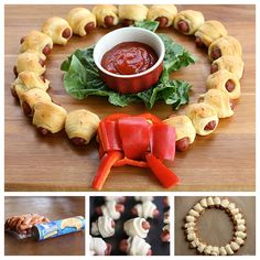 This mini sausage wreath is simple and quick to make. It's a perfect recipe to help with all of your Holiday entertaining.  Recipe--> http://wonderfuldiy.com/wonderful-diy-mini-sausage-wreath/#  More #DIY projects: www.wonderfuldiy.com