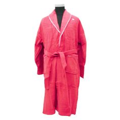 30c0690b36 TERRY SHAWL LIGHT RED BATHROBE WITH WHITE PIPING Men s Robes