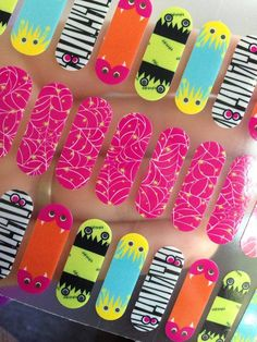 How cute are these #Halloween Webs & Monsters #Jamberry Juniors?!