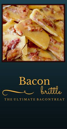 Bacon Brittle - Fast, easy, yummy Is bacon brittle one of the 5 main food groups? Or is it just a subcategory under Bacon? Either way, it is delicious. Bacon Recipes, Candy Recipes, Sweet Recipes, Holiday Recipes, Dessert Recipes, Cooking Recipes, Holiday Treats, Yummy Recipes, Bacon Brittle Recipe