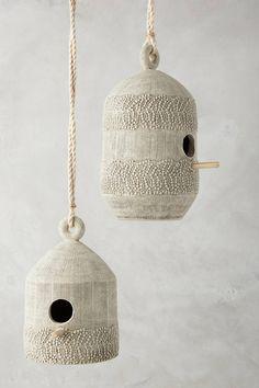 Anthropologie Laced Siding Birdhouse