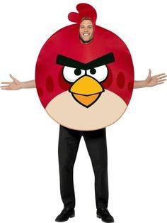 """Naamiaisasu; Angry Birds Punainen Onko possujen tyrmääminen intohimosi? Tunnusta väriä ja pukeudu klassiseksi """"Punaiseksi Angryksi"""" ja ole bileiden häijyin tipu. #naamiaismaailma"""