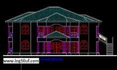 مسكن عائلي منفصل مع خطط أوتوكاد 4 غرف اوتوكاد dwg