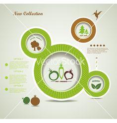 Organic food bubbles vector