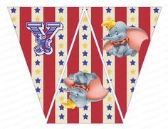 INSTANT DOWNLOAD Dumbo Circus Happy Birthday by IrrelephantDesigns