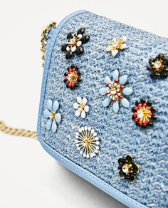 CROSSBODY BAG WITH FLOWERS-BAGS-WOMAN | ZARA United States
