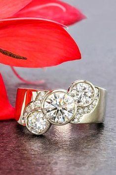 24 Dazzling Diamond Engagement Rings Of Her Dreams ❤ See more: http://www.weddingforward.com/diamond-engagement-rings/ #wedding #engagement #rings #DazzlingDiamondEngagementRings