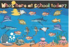 Ocean Attendance for Smart Board product from Kellers-Kindergarten on TeachersNotebook.com