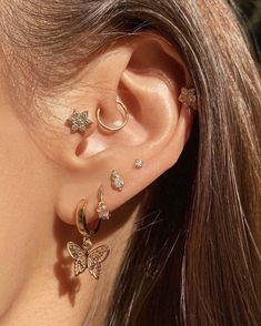 Bijoux Piercing Septum, Ear Jewelry, Cute Jewelry, Jewelery, Jewelry Accessories, Jewelry Ideas, Gold Jewellery, Crystal Jewelry, Tatuajes