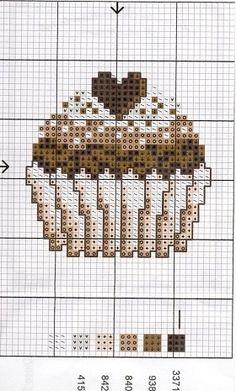 chocolate cross stitch cupcake free pattern