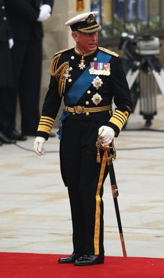 royal wedding 2011: Prince Charles in the uniform of an Admiral in the Royal…